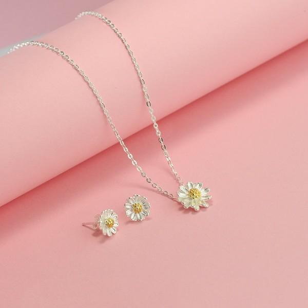 Bộ trang sức bạc giá rẻ hoa cúc họa mi đẹp BTS0016 - Trang ...