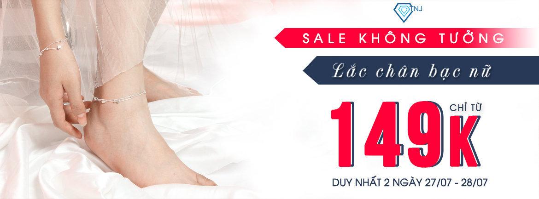 lắc chân bạc nữ giá chỉ từ 149K