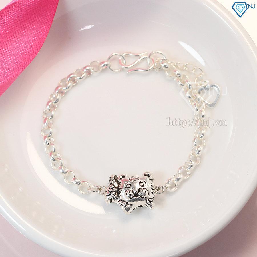 Lắc bạc cho bé hình con hổ dễ thương LTT0008