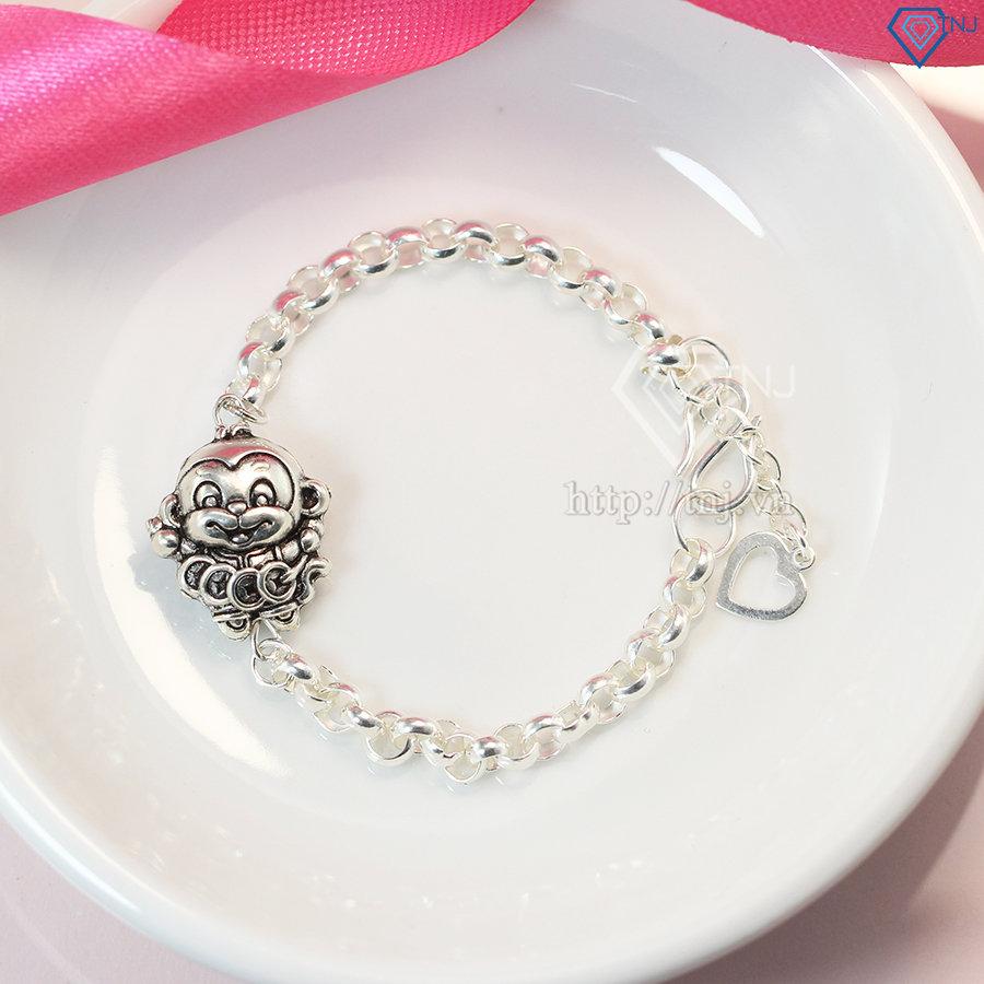 Lắc bạc cho bé hình con khỉ dễ thương LTT0008