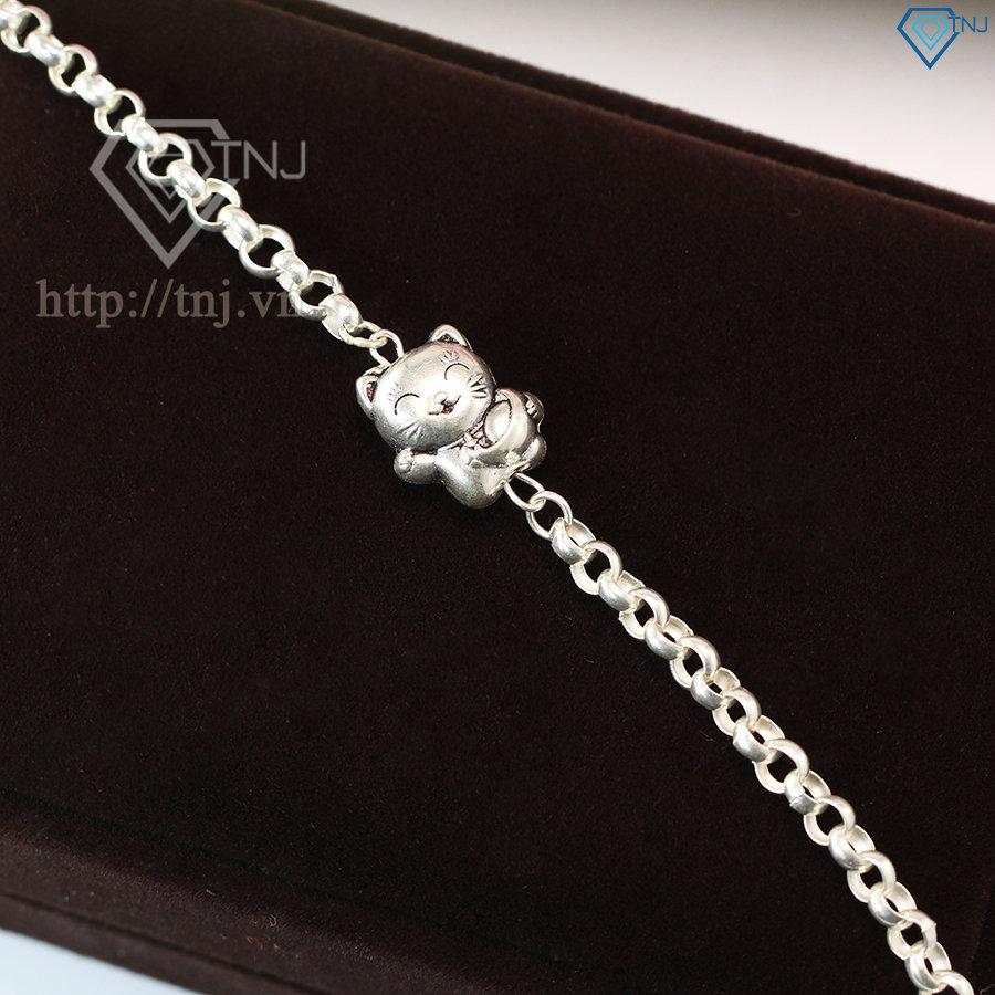 Lắc bạc cho bé hình con mèo dễ thương LTT0018