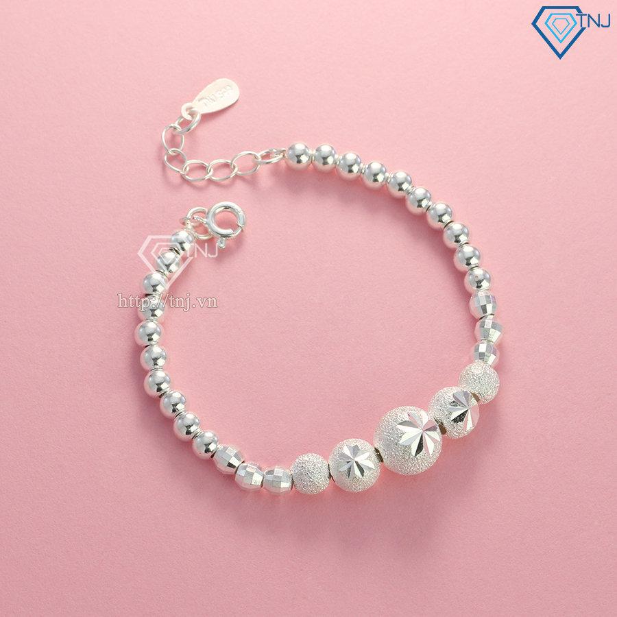 Lắc tay bi bạc cho bé LTT0055