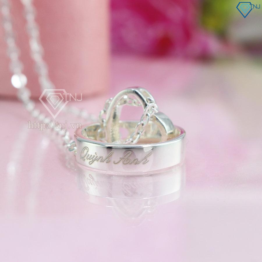 dây chuyền bạc đẹp khắc tên theo yêu cầu ND0164