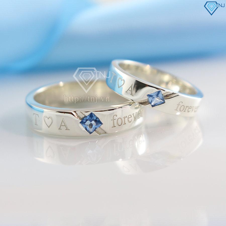 nhẫn đôi bạc nhẫn cặp bạc đẹp khắc tên theo yêu cầu ND0164
