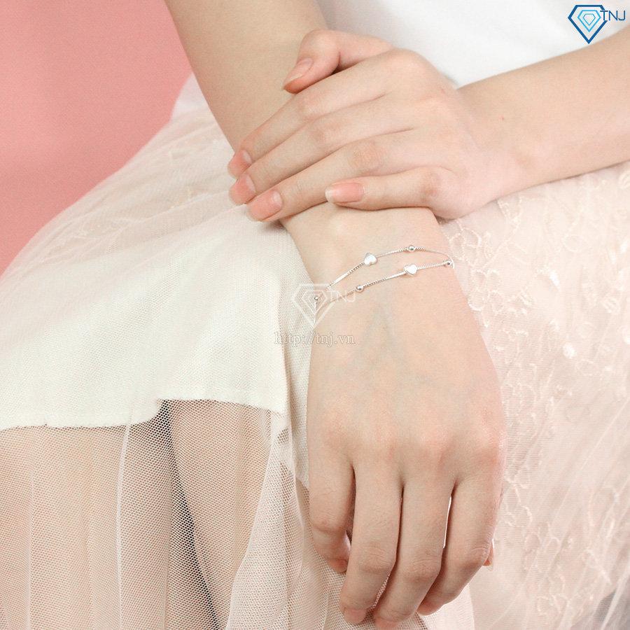 Bộ trang sức bạc 925 hình trái tim đẹp BTS0009