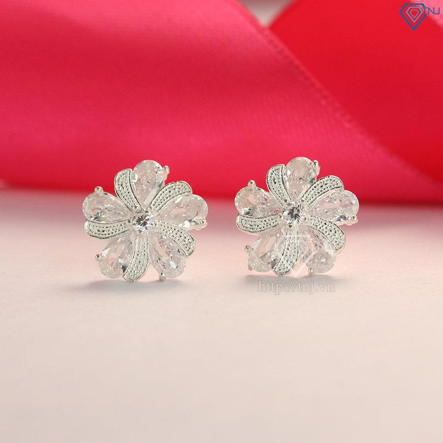 Bộ trang sức bạc nữ đẹp hoa 5 cánh BTS0019