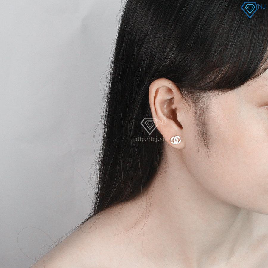 Bộ trang sức bạc cao cấp hình chanel BTS0021