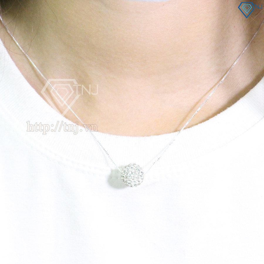 Bộ trang sức hình trái châu đính đá tím đẹp BTS0024