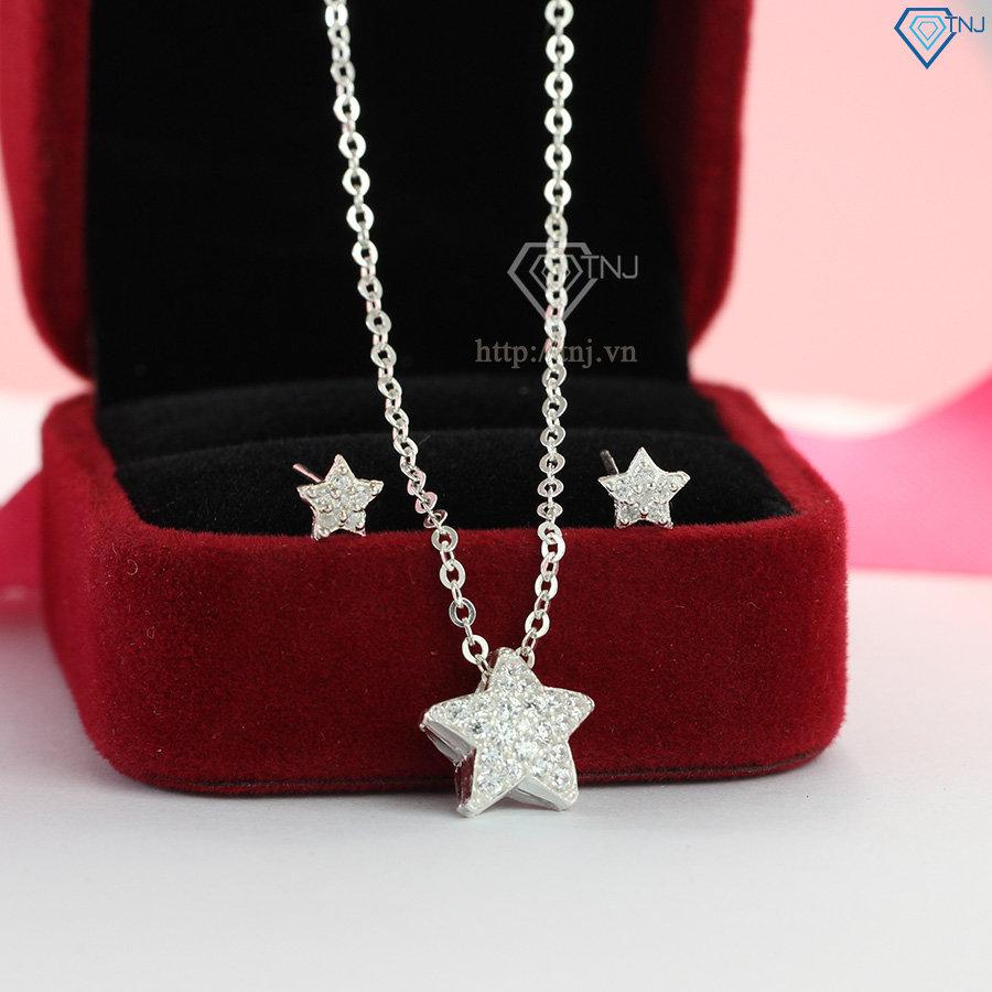 Bộ trang sức hình ngôi sao đính đá tím đẹp BTS0026