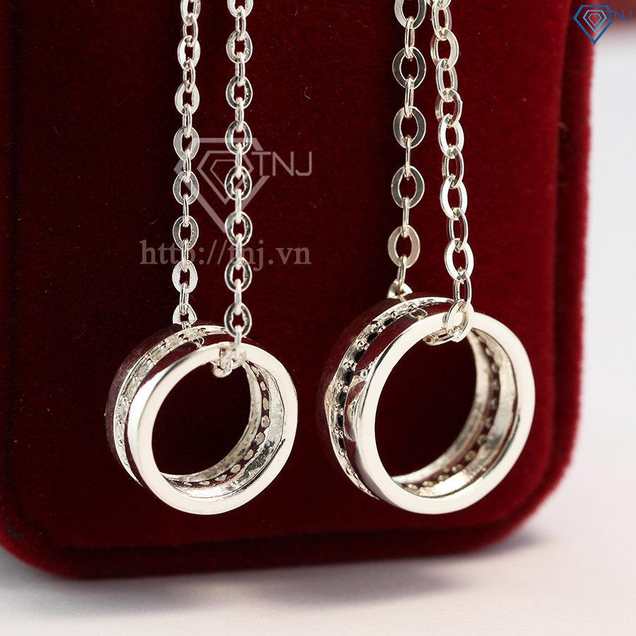 Dây chuyền cặp đôi bạc đơn giản DCD0004