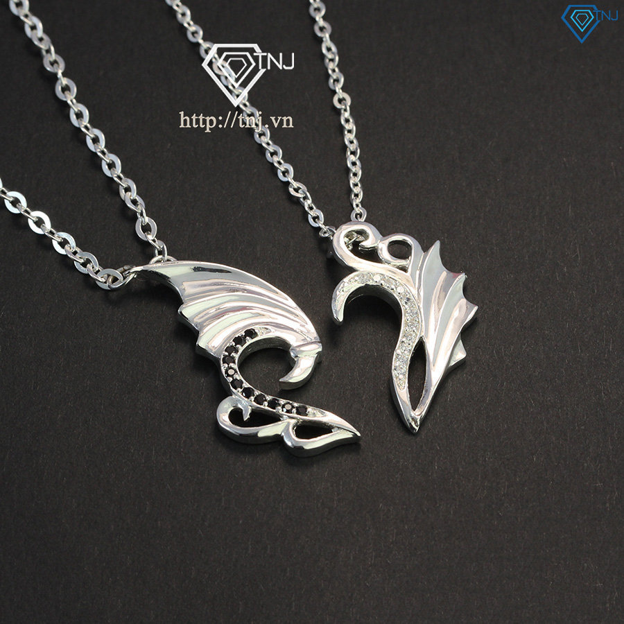 Dây chuyền cặp bạc hình đôi cánh thiên thần DCD0011