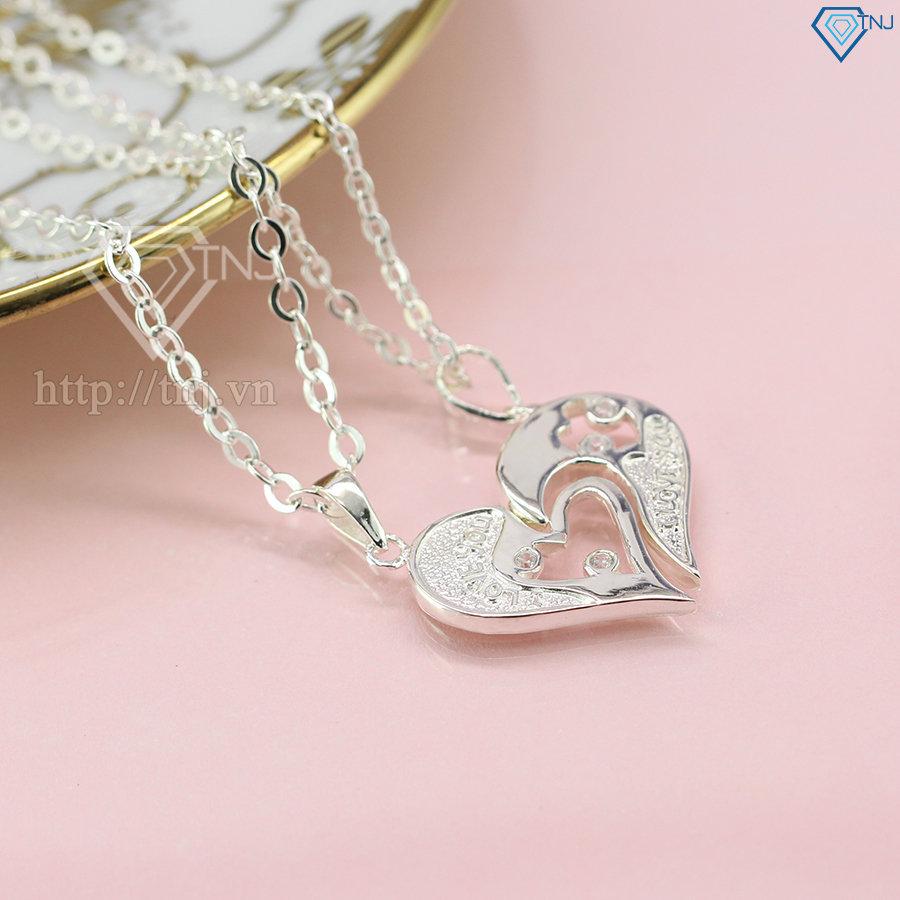 Dây chuyền cặp hình trái tim DCD0021