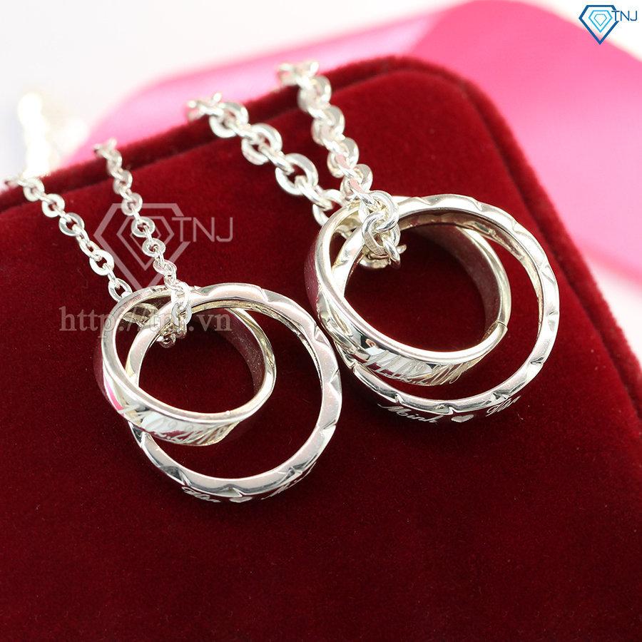 Dây chuyền cặp đôi bạc khắc tên theo yêu cầu DCD0024