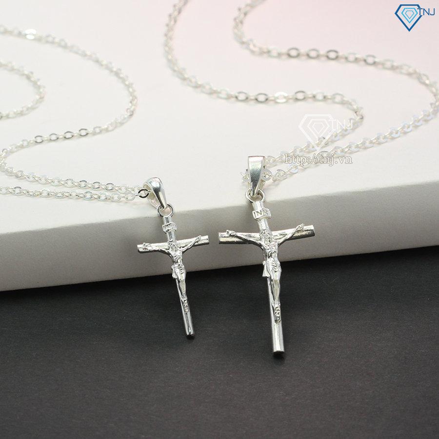 Dây chuyền cặp đôi bạc thánh giá đẹp DCD0033
