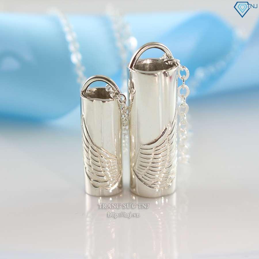 dây chuyền cặp đôi bạc đôi cánh thiên thần dcd0010