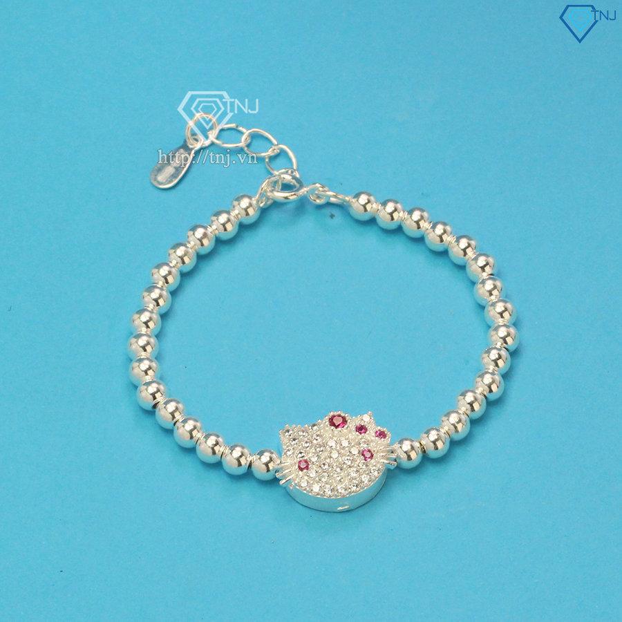 Bộ trang sức bạc cho bé gái hình Hello Kitty BTS0001