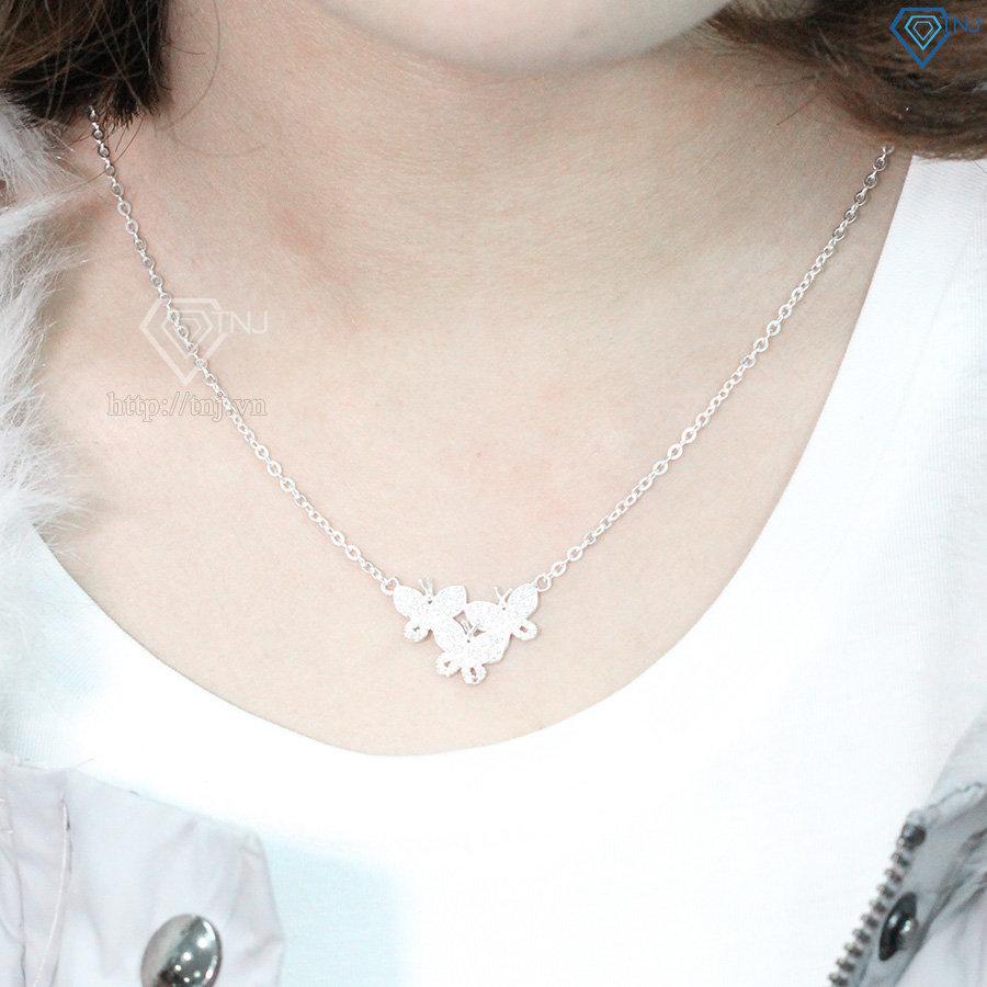 Dây chuyền bạc nữ mặt con bướm DCN0068