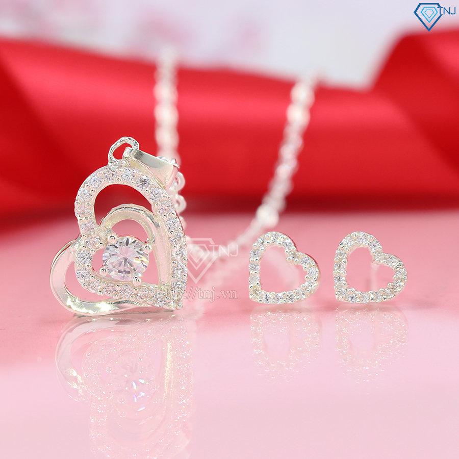 dây chuyền bạc nữ mặt trái tim đẹp DCN0082