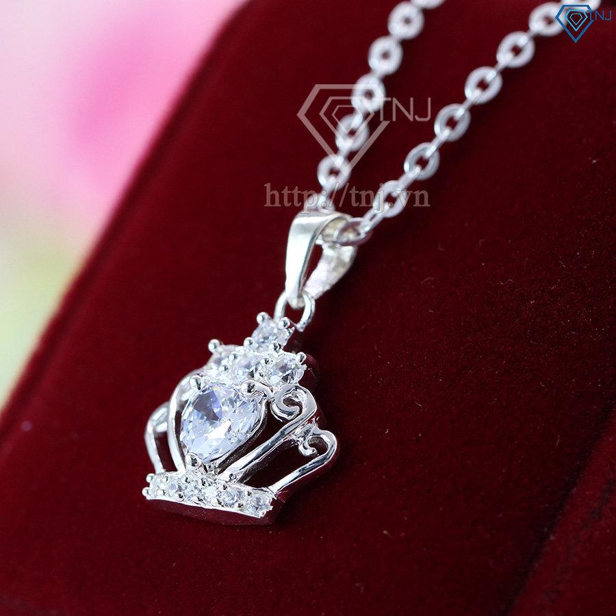 Dây chuyền bạc nữ mặt vương miện DCN0107