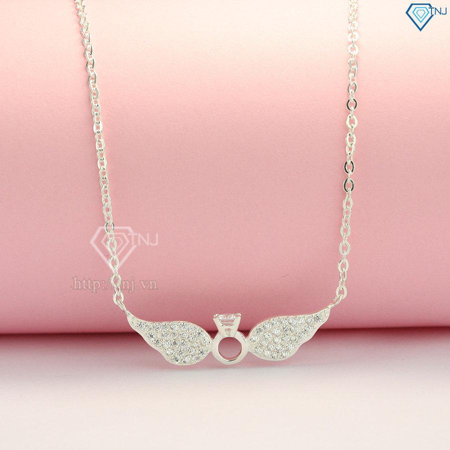 Dây chuyền bạc nữ cánh thiên thần đính đá DCN0323