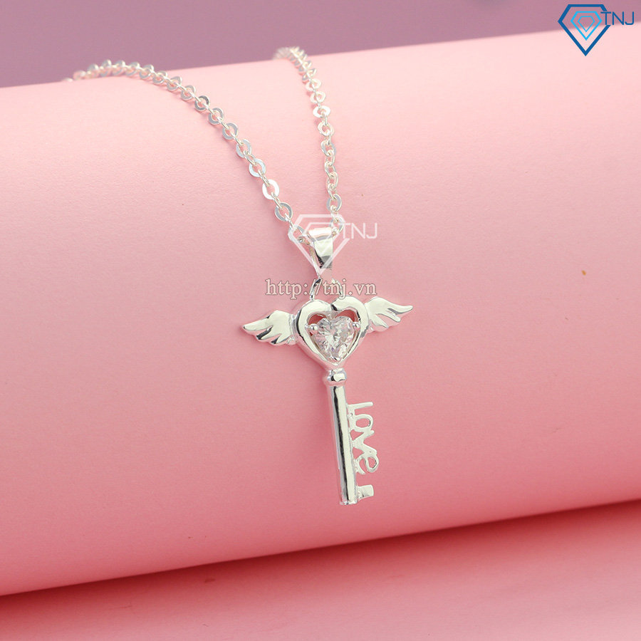 Dây chuyền bạc nữ chìa khóa thiên thần DCN0214
