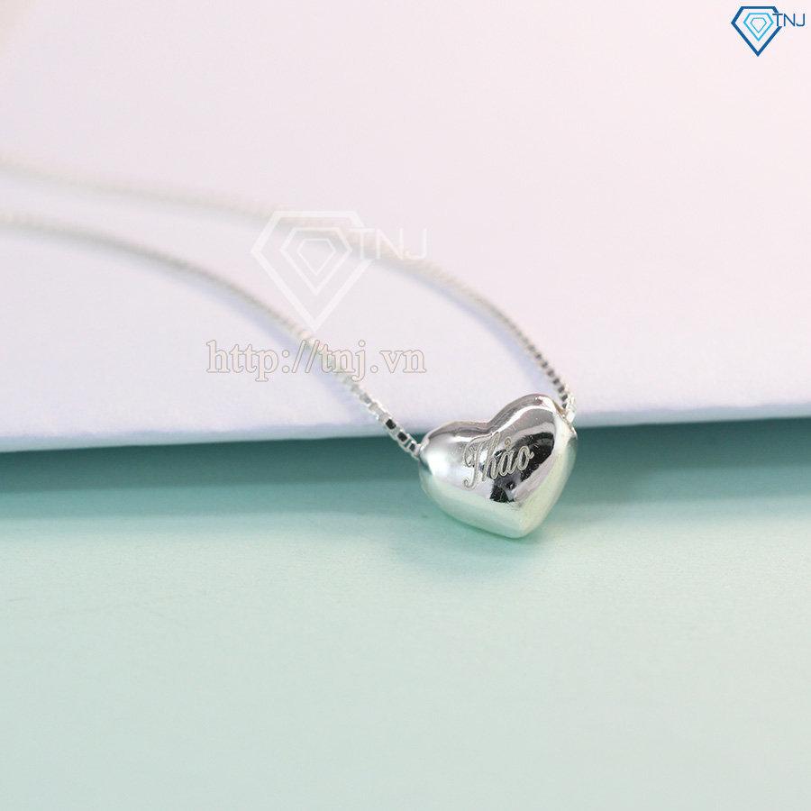 Dây chuyền trái tim phồng khắc tên DCN0218