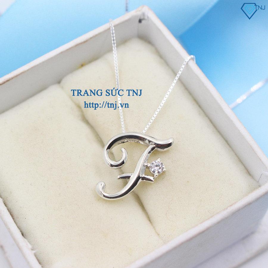 Vòng cổ bạc nữ mặt chữ T DCN0231