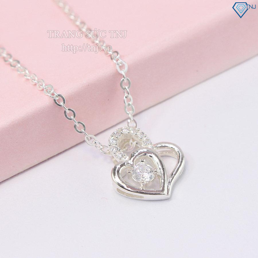 Dây chuyền bạc nữ đẹp mặt trái tim DCN0235