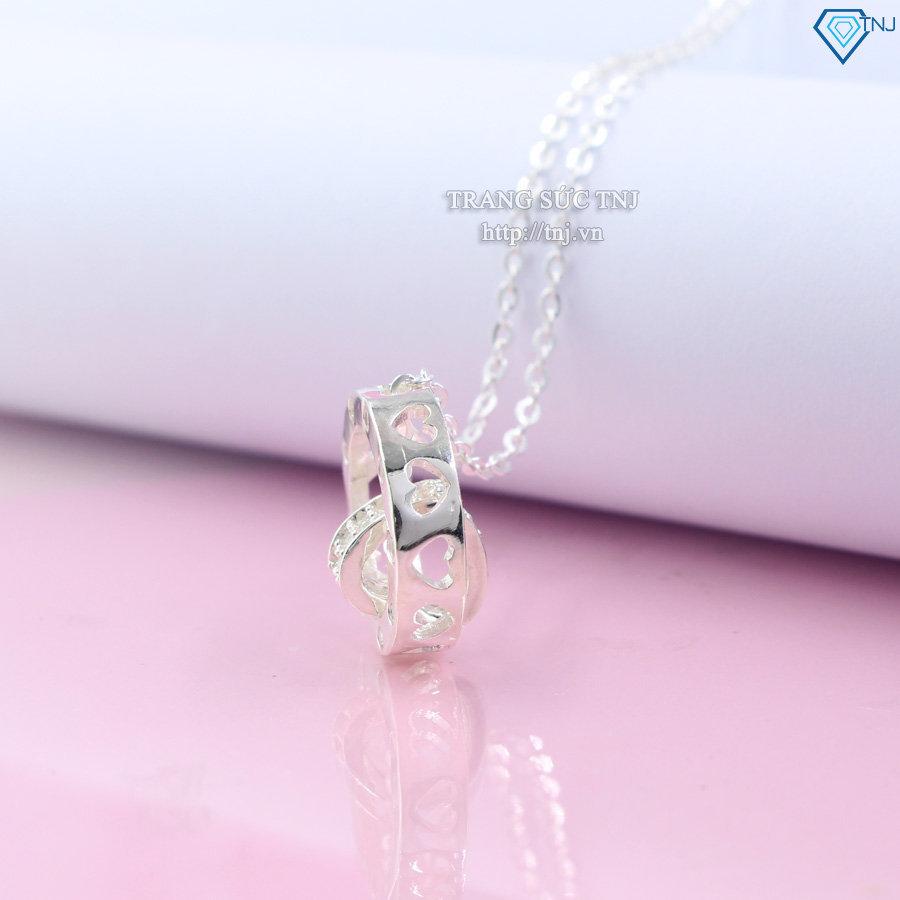 Dây chuyền bạc nữ mặt họa tiết trái tim DCN0242