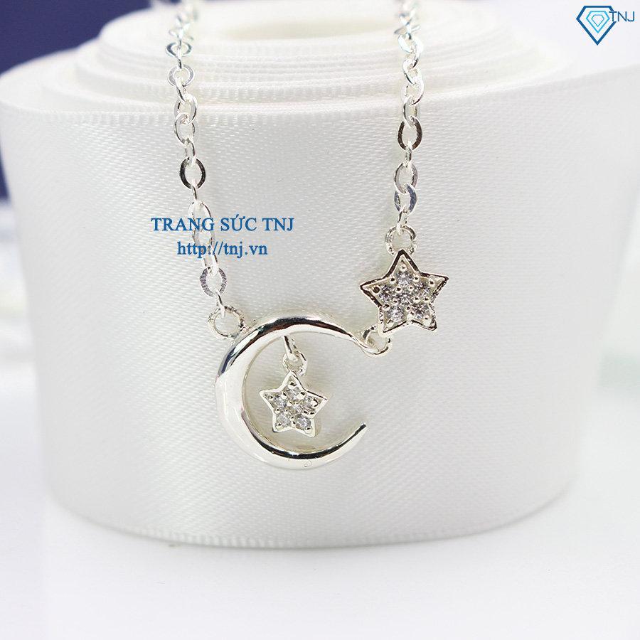 Dây chuyền bạc nữ mặt trăng sao DCN0248