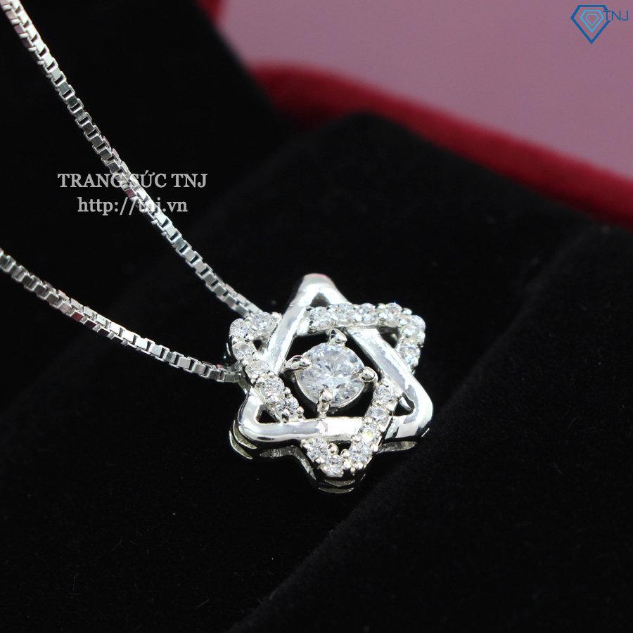 Dây chuyền bạc nữ mặt ngôi sao đính đá DCN0268