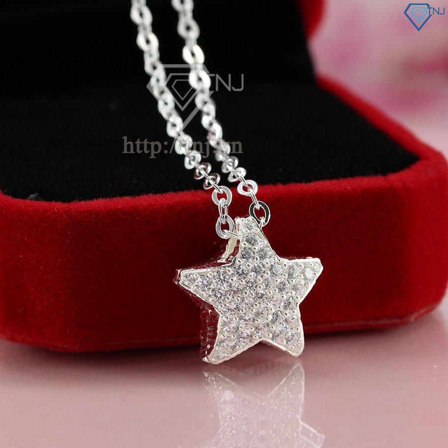 Dây chuyền bạc nữ mặt ngôi sao đính đá DCN0293