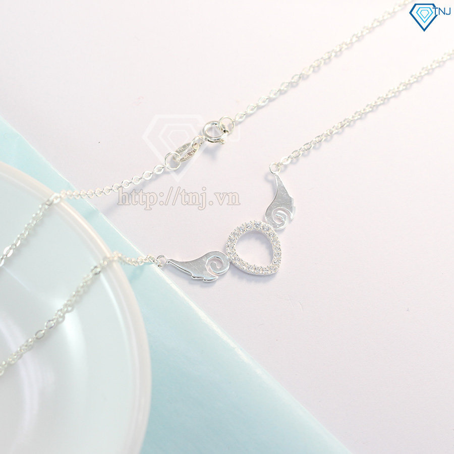 Dây chuyền bạc nữ cánh thiên thần đính đá DCN0319