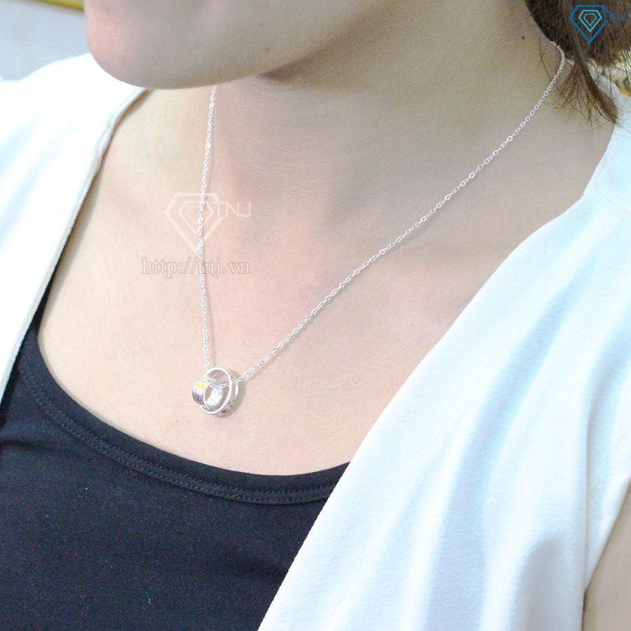 Dây chuyền bạc nữ đẹp mặt kép DCN0353