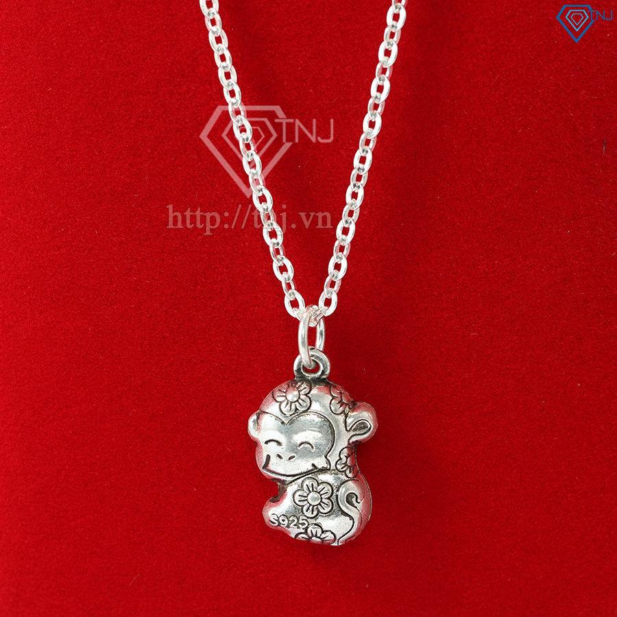 Dây chuyền bạc nữ hình con khỉ đẹp DCN0357