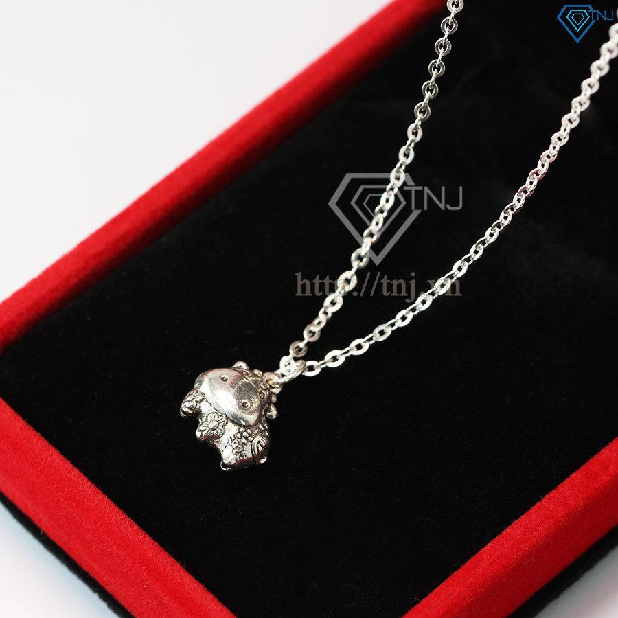 Dây chuyền bạc nữ mặt hình con trâu đẹp DCN0366
