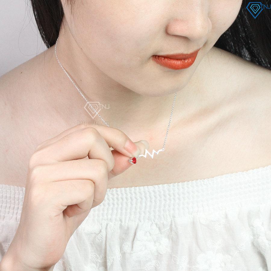 Dây chuyền bạc nữ nhịp đập trái tim đẹp DCN0416