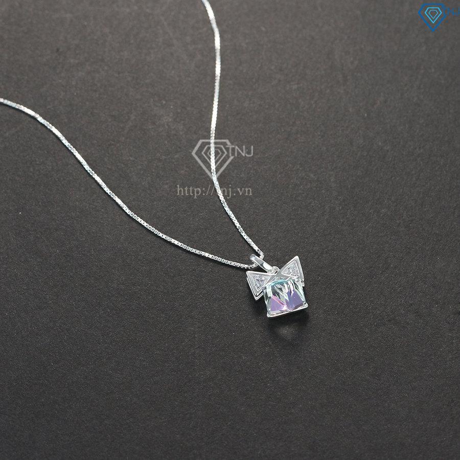 Dây chuyền bạc nữ hình hộp quà đẹp DCN0417