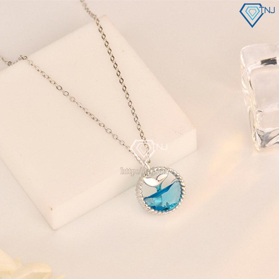 Dây chuyền bạc nữ nước mắt mỹ nhân ngư đẹp DCN0435