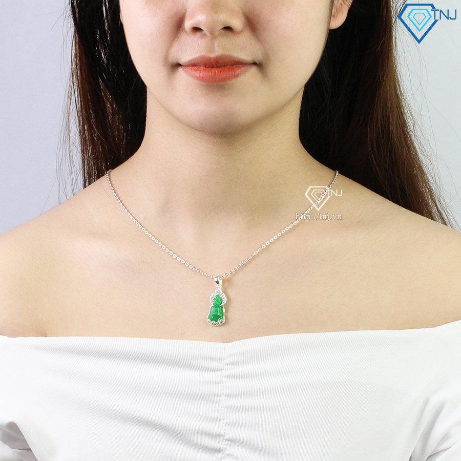 Dây chuyền Phật Bà Quan Âm đá cẩm thạch DCN0513