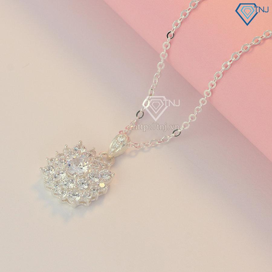 Dây chuyền bạc nữ đẹp đính full đá DCN0524