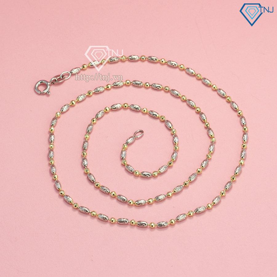 Dây chuyền Chanel xi bạch kim cho nữ DCN0527
