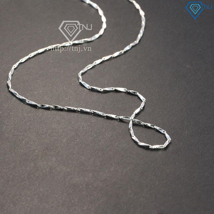 Dây chuyền bạc nữ dạng dây mưa DNK0006
