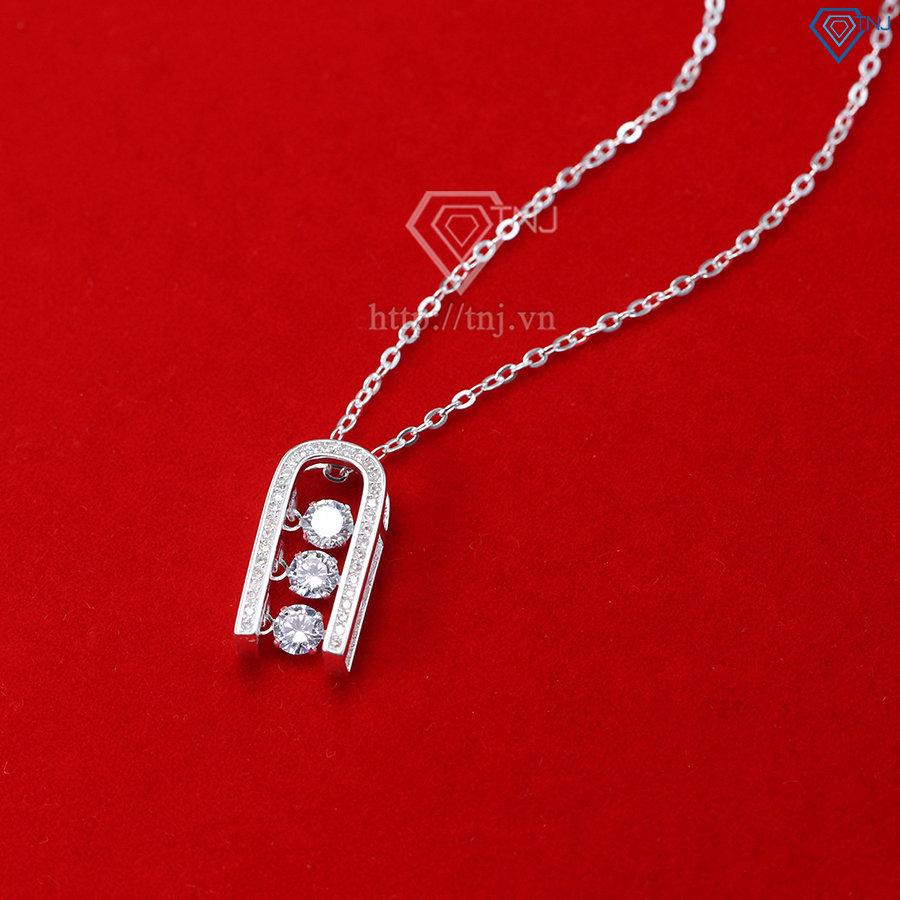 Dây chuyền bạc nữ mặt đính đá sang trọng DCN0351