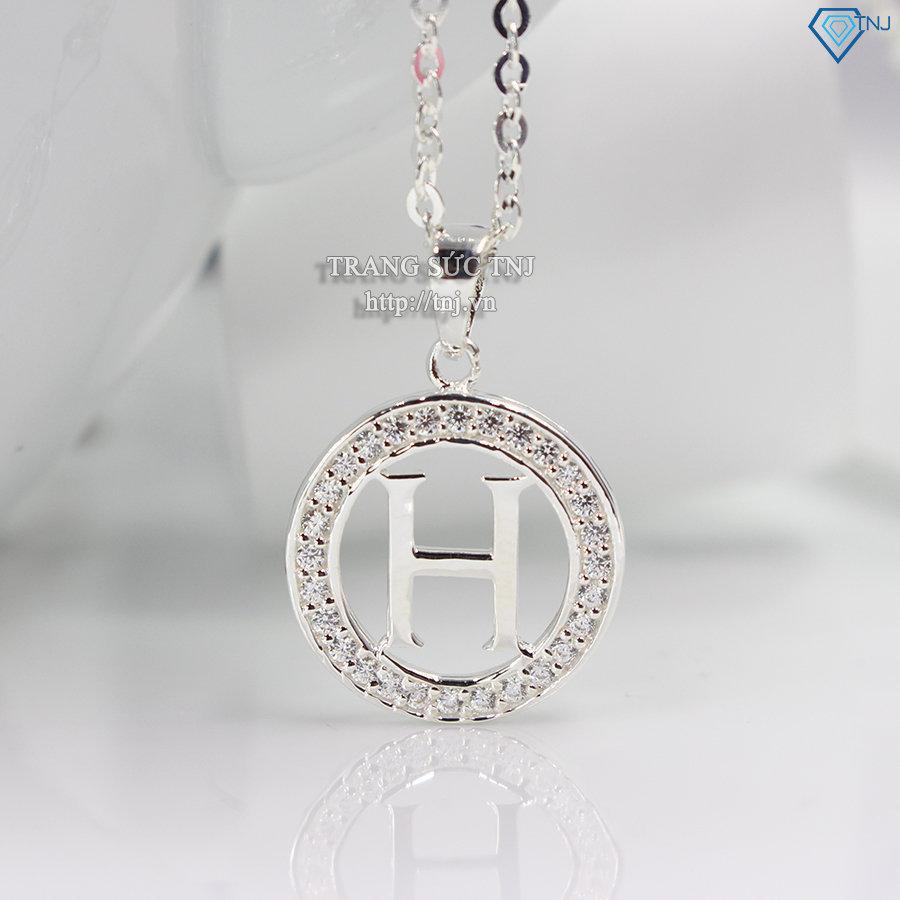 Dây chuyền bạc mặt chữ H DCN0252