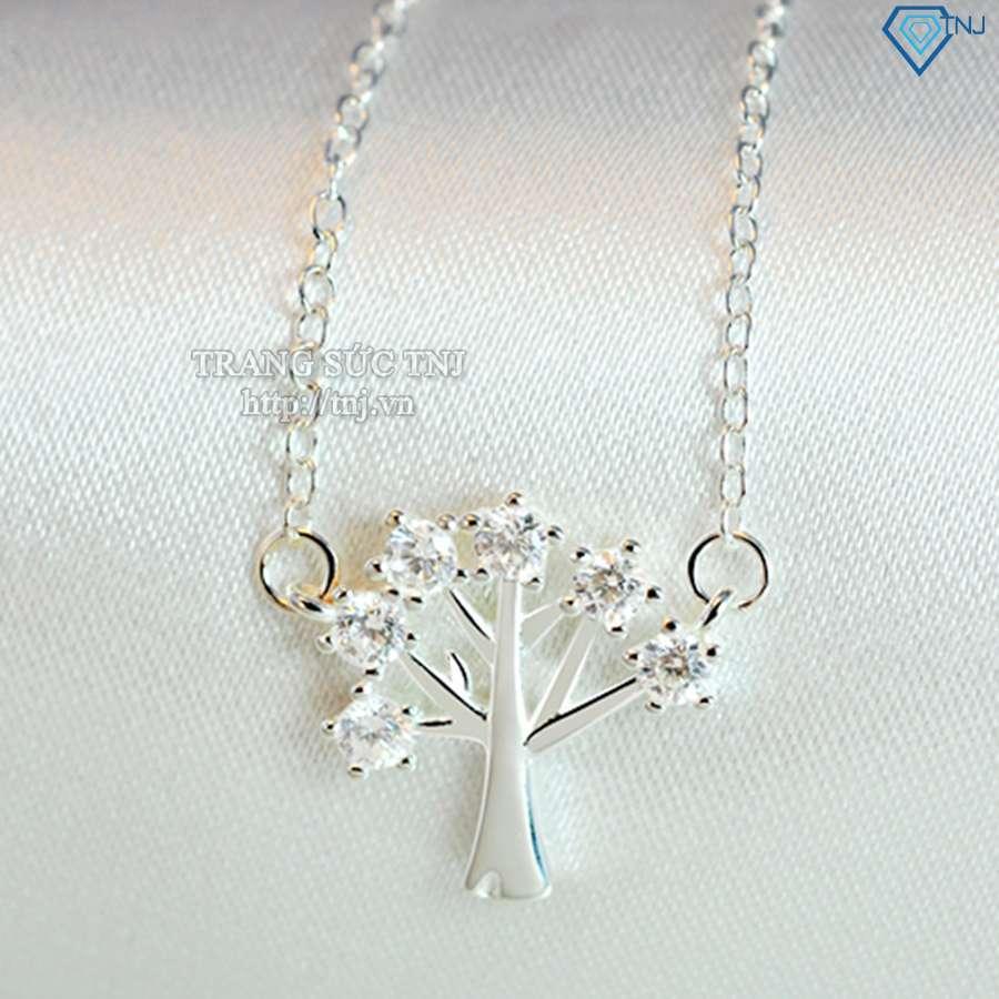 dây chuyền bạc nữ mặt cành cây dcn0143