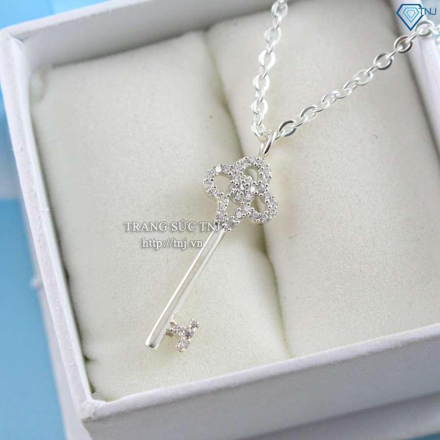 dây chuyền bạc nữ mặt chìa khóa tình yêu dcn0154