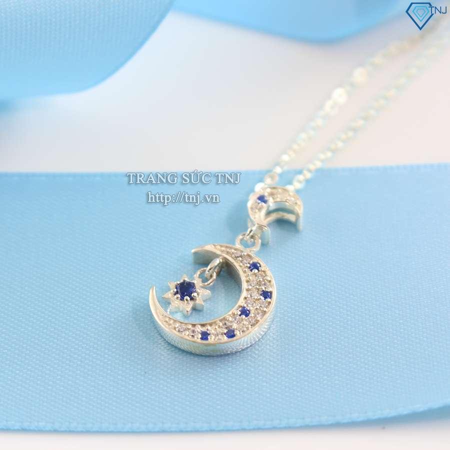 dây chuyền bạc nữ ánh sao xanh dcn0204