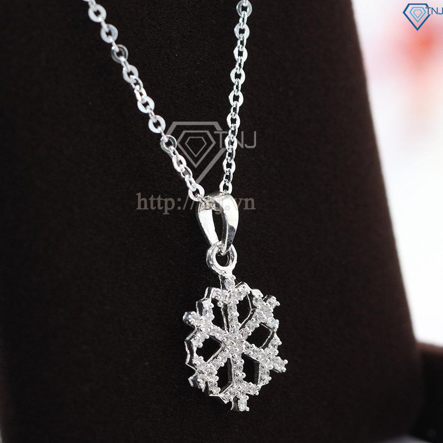 dây chuyền bạc nữ kiểu dáng bông tuyết DCN0339