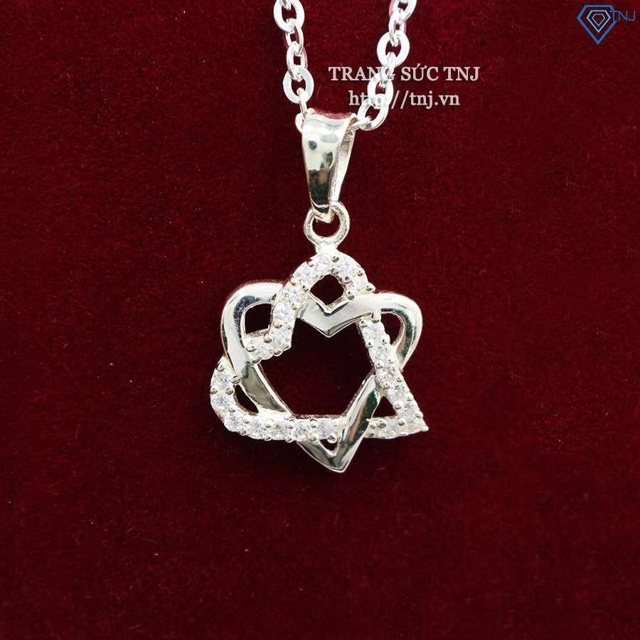 Dây chuyền bạc nữ đẹp mặt trái tim DCN0271